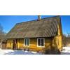 Добротный зимний дом с баней рядом с озером и сосновым лесом